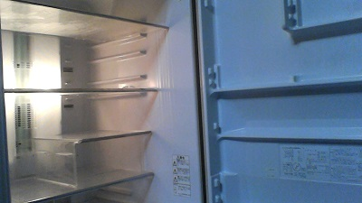 冷蔵庫、掃除、ビフォーアフター。やる気。